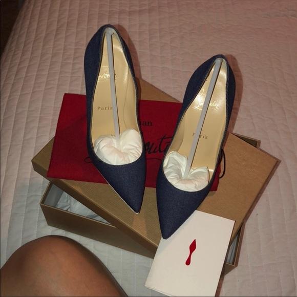 1dee6c262 Christian Louboutin Shoes | Authentic Denim Pumps | Poshmark